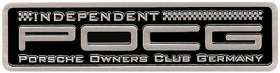 Metallplakette Independent Porsche Owners Club Germany 356 914 911 964 993