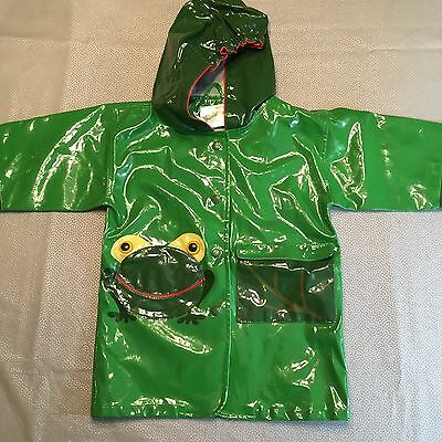 Kids Rain Jacket - Green Frog, Size 3T