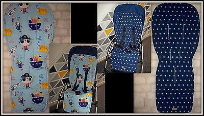 Custom made universal reversible seat liner fit Bugaboo Cameleon Donkey Buffalo