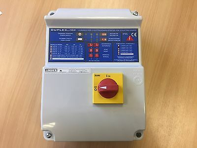 Pump electrical panel 2 pump 230v 1 phase 0.37-2.2kW Grundfos Ebara Xylem Wilo