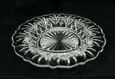 Vintage Pressed Glass Cheese Butter Dish Clear