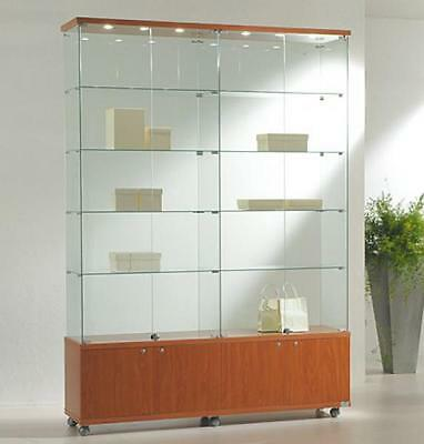 Showcase 157X40X220H With Spotlights And Cabinet Furnishing Accessories