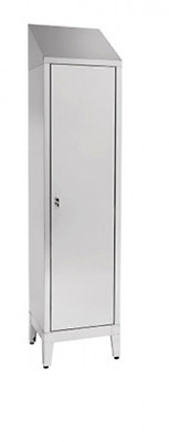 Wardrobe for brooms For 1 Door Stainless Steel AISI 304 Cm. 50X50X215H