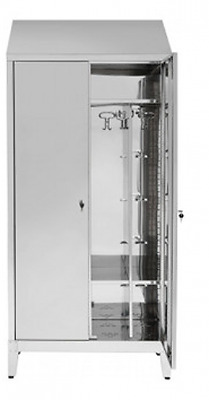 Wardrobe Locker Stainless Steel AISI 304 2 place doors Dirty / Clean 95X40X215H
