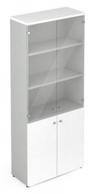 Wardrobe library high size Eco door Knockers And Glasses Cm. 90X45,8X200H