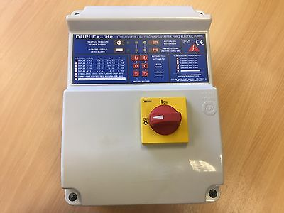 Pump electrical panel 2 pump 400v 3 phase 0.55-3.7kW Grundfos Ebara Xylem Wilo