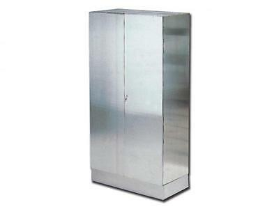 Cabinet Operating Room Stainless Steel Aisi 304 2-Door Lockable Cm. 100X48X190H