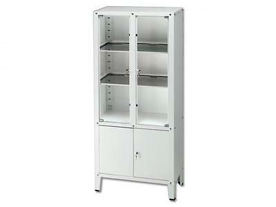 Cabinet Medical Steel Studio With 2 Bunk Compartments 2 Glass Doors 75X37X164
