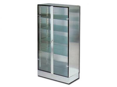 Cabinet Operating Room Stainless Steel Aisi 304 2 Glass Doors Cm. 100X48X190H