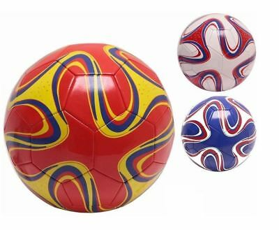 3 x Inflatable Size 5 Official Weight Stitched Football Soccer Ball Garden Toys