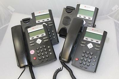Lot of 4 Polycom Soundpoint IP 335  VoIP Phone Telephone