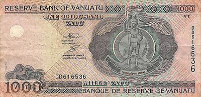 Vanuatu  1000  Vatu  ND. 2002  P 10a  Series  DD  circulated Banknote G10d