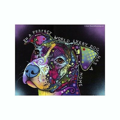 Pit Bull In A Perfect World Every Dog Has Dean Russo Vinyl Dog Car Decal Sticker