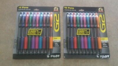 Pilot G2 Retractable Premium Gel Roller Ball Pens, Fine Point, 2x 10 packs=20