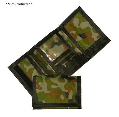 Army Camouflage Wallet Nylon Velcro Trifold Kids Wallets for Boys Camo...