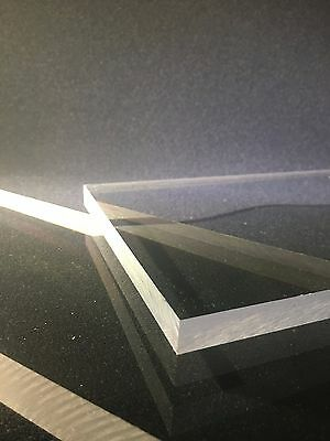 "1/2"" Thick Clear Polycarbonate (POLYCARB) Sheet- Priced Per Foot- Cut to Size!"