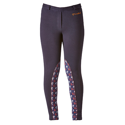 Firefoot Kids Harden Jodhpurs, Navy/Orange, 26""