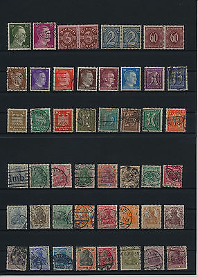 Germany, Deutsches Reich, Nazi, liquidation collection, stamps, Lot,used (A 12)