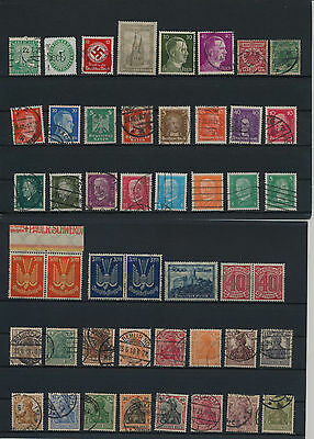 Germany, Deutsches Reich, Nazi, liquidation collection, stamps, Lot,used (A 9)