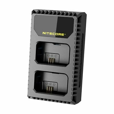 Nitecore USN1 Dual Slot USB Battery Charger for Sony Cameras replaces NP-FW50