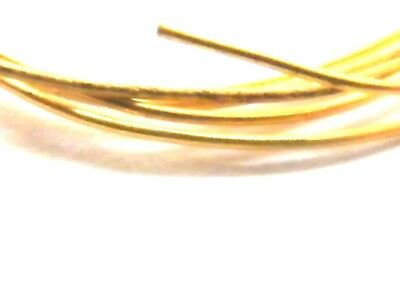 18ct Yellow Gold Solid Round Wire 1.50mm x 100mm-Jewellery Making 14/15 Gauge18K