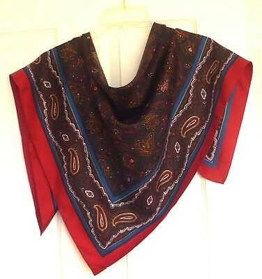 Charter Club Very Beautiful Paisley Design 100% Silk Scarf , Made in Japan !