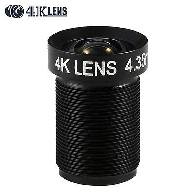New 4.35MM Lens 1/2.3 Inch 10MP IR 72D Flat Lens for Go pro SJCAM