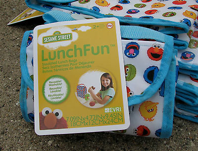 Sesame Street LUNCHFUN Characters lunch bag insulated BPA free reusable