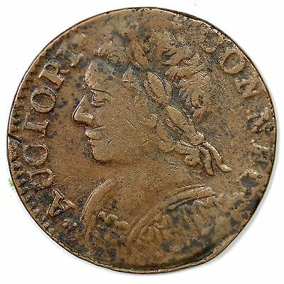 1788 CT 7-F.2 R6 Colonial Copper Coin 1c