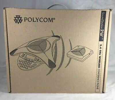 POLYCOM SoundStation Conference Phone 2W 2.4GHz Wireless 2200-07800-001 - New!