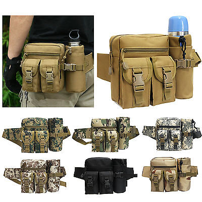 Men Military Tactical Sport Fanny Pack Hunting Hiking Waist Belt Pouch Bag