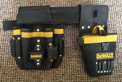 DeWalt Heavy Duty Tool Pouch With Belt And Drill Holder