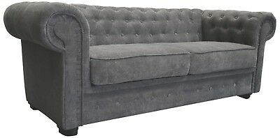 Venus Chesterfield Sofa Bed 2 Seater 3 Seater Armchair Velour Fabric