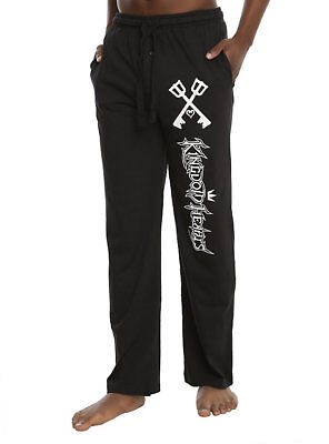 Mens Women NEW Black Disney Kingdom Hearts Keyblade Pajama Lounge Pants XS-2XL