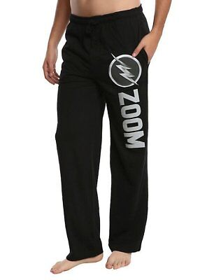 Mens Women NEW Black The Flash Zoom Pajama Lounge Pants Size S-2XL
