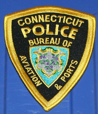 CONNECTICUT BUREAU OF AVIATION & PORTS AIRPORT POLICE CT PD patch FAA patch #2