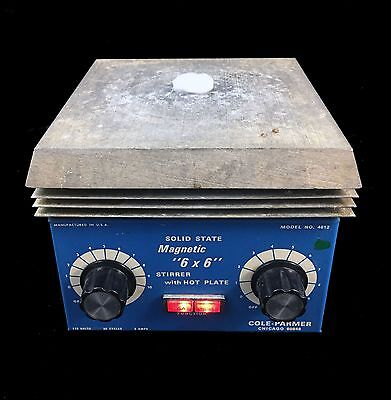Cole Parmer Model 4812 Solid State Magnetic 6 x 6 Stirrer Hot Plate