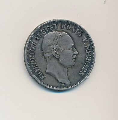 1907-E Germany Saxony 5 Mark-Very Nice Silver German Coin-Ships Free!