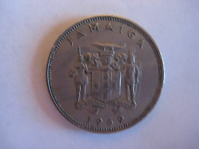 1969 Jamaica 20 Cents coin