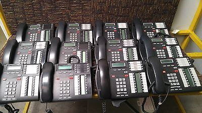 12 Lot Nortel T7316E 7316E Avaya Telephone Office Phone Charcoal W/ Back Stand