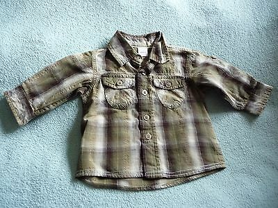 ** FAB Baby Boy Checked Shirt with roll-up sleeves - Adams (3 - 6 months) **