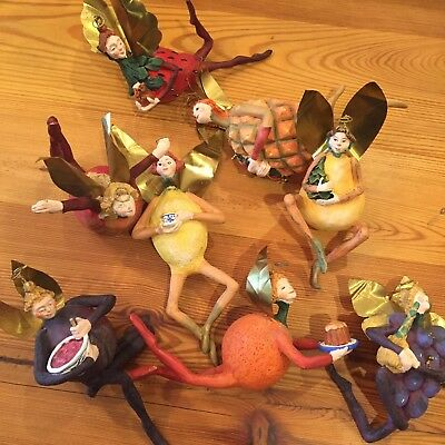 DEPARTMENT 56 Set 8 Fruit fairy Fairies Ornaments