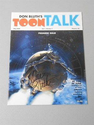 Don Bluth's Toon Talk Vol 1 #1 May 2000 () Premiere Issue Signed by Bluth