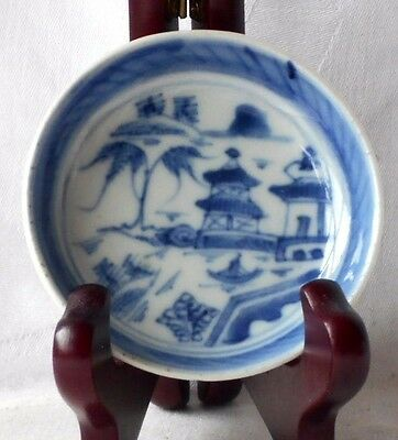 C20Th Small Chinese Blue And White Dish