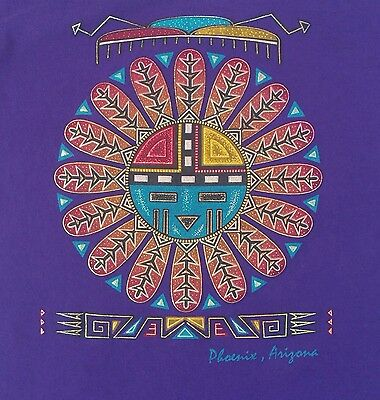 Vintage 80s 90s PHOENIX ARIZONA Hopi Kachina Doll T-shirt NATIVE SOUTHWEST Art