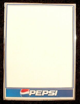 Pepsi Soda Whiteboard Advertising Collectible Sign - 16 x 23 inches
