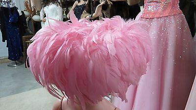Vintage Whittall &  Shon Pink Feather Hat