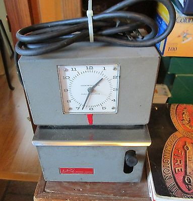 Vintage Lathem 2106 Electric Time Clock Works Fine with Key Need Ribbon