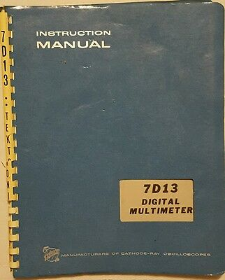 Tektronix 7D13 digital multimeter instruction manual booklet