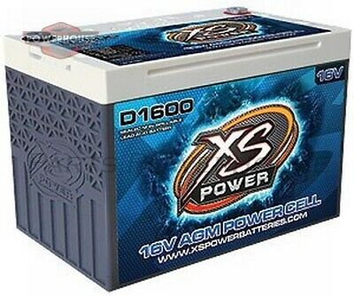 XS POWER D1600 16V AGM Battery Max Amps 2 400A CA: 675A